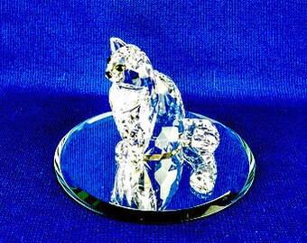 Swarovski Crystal Sitting Cat