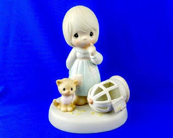 The Lord Giveth and the Lord Taketh Away Precious Moment  Figurine
