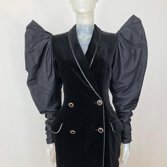 Georges Rech, velvet and silk dress