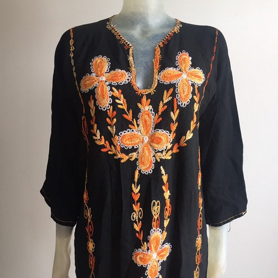1970's embroidered caftan