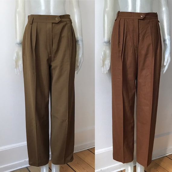 Escada, two high waisted wool trousers