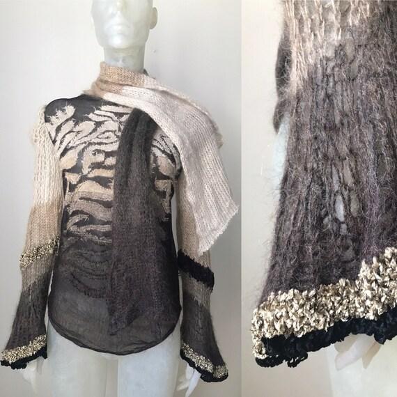 Jean Paul Gaultier, mesh wool shirt