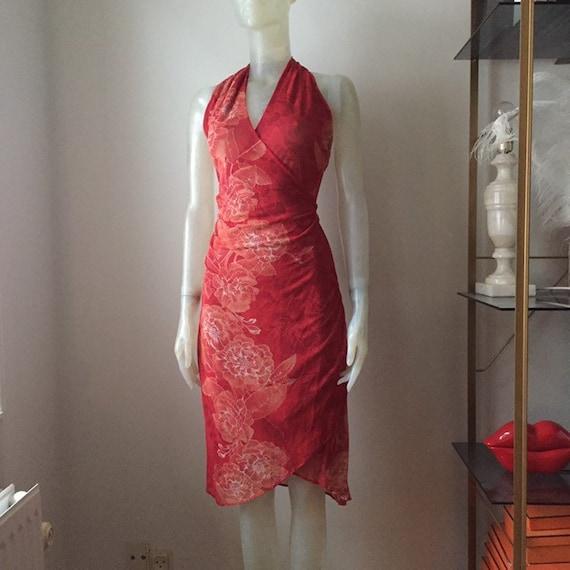 Kenzo, 90s mesh halter neck dress