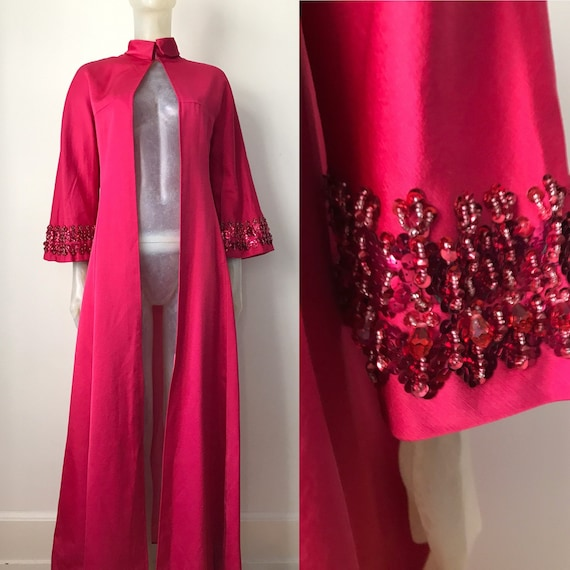 1970s silk robe