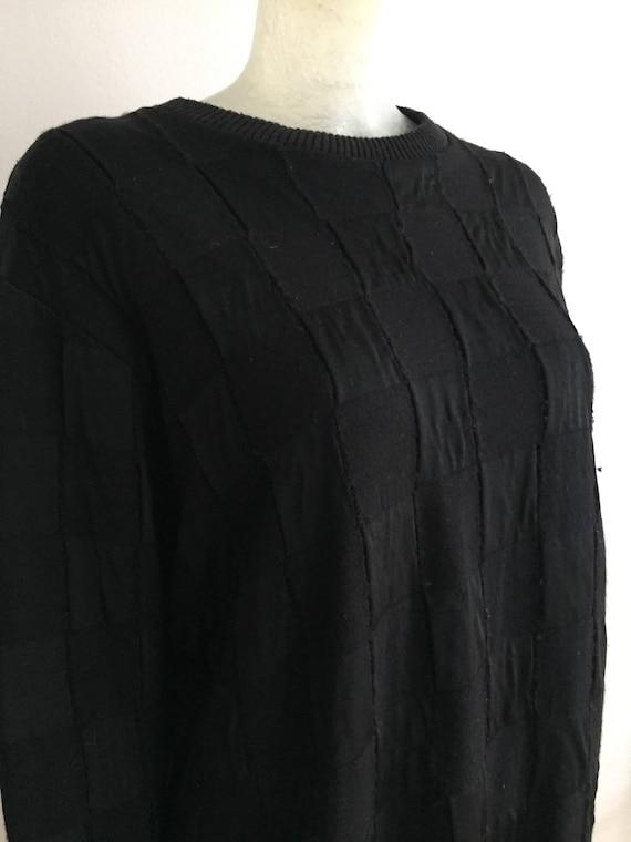 Yohji Yamamoto, black patchwork knit