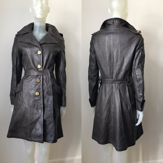 Pierre Cardin, vintage leather trenchcoat