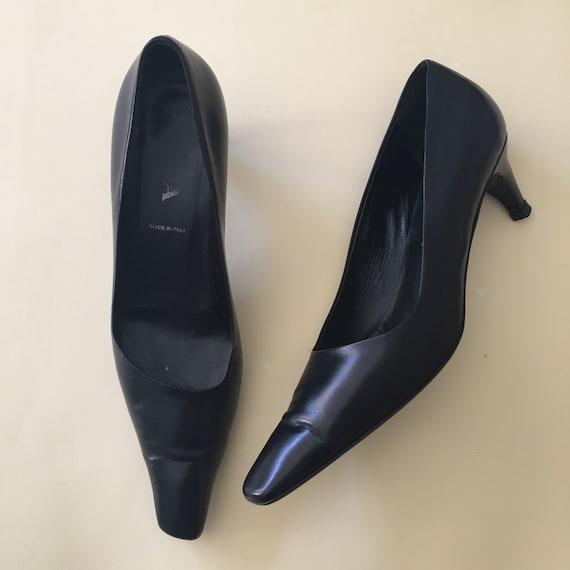 Prada, 90s long toe kitten heels