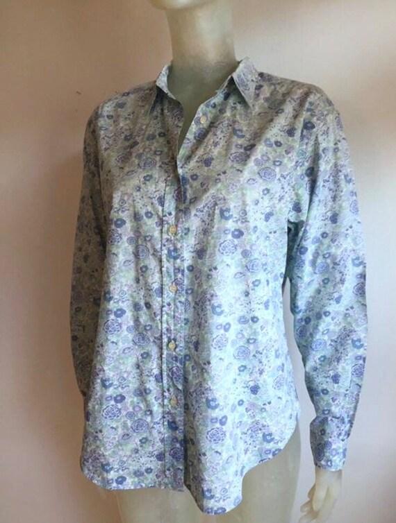 Cacharel, vintage floral cotton shirt