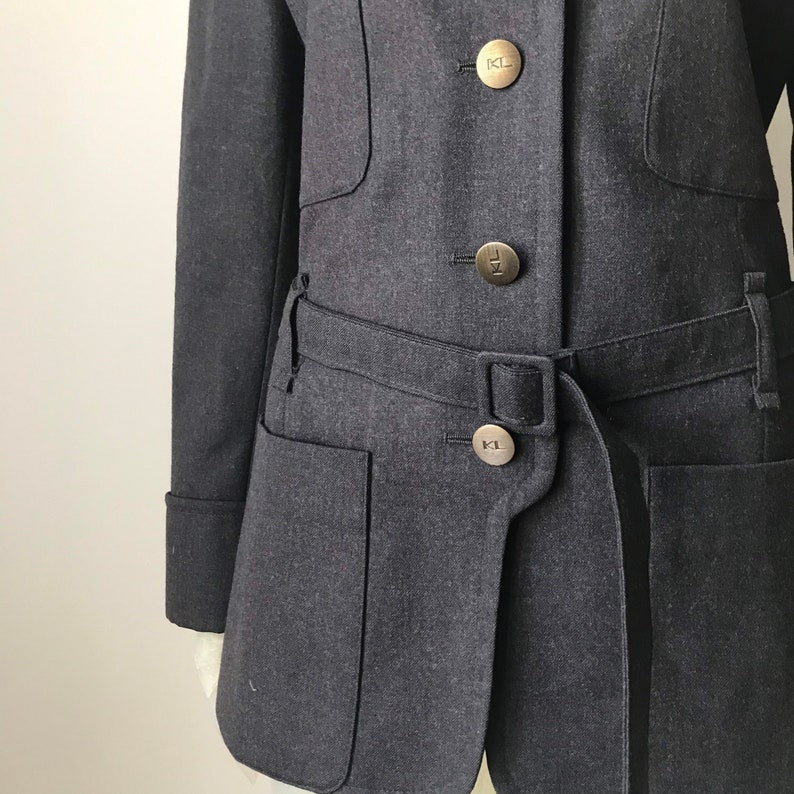 belt wool blazer Karl Lagerfeld