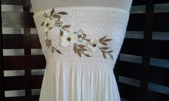 Vintage Stunning BoHo Tube Top Dress Bohemian Beac
