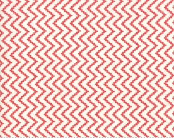 Moda CHRISTMAS FIGS II Quilt Fabric By-The-1/2-Yard by Fig Tree & Co - 20353 34 Snowflake/Pomegranate