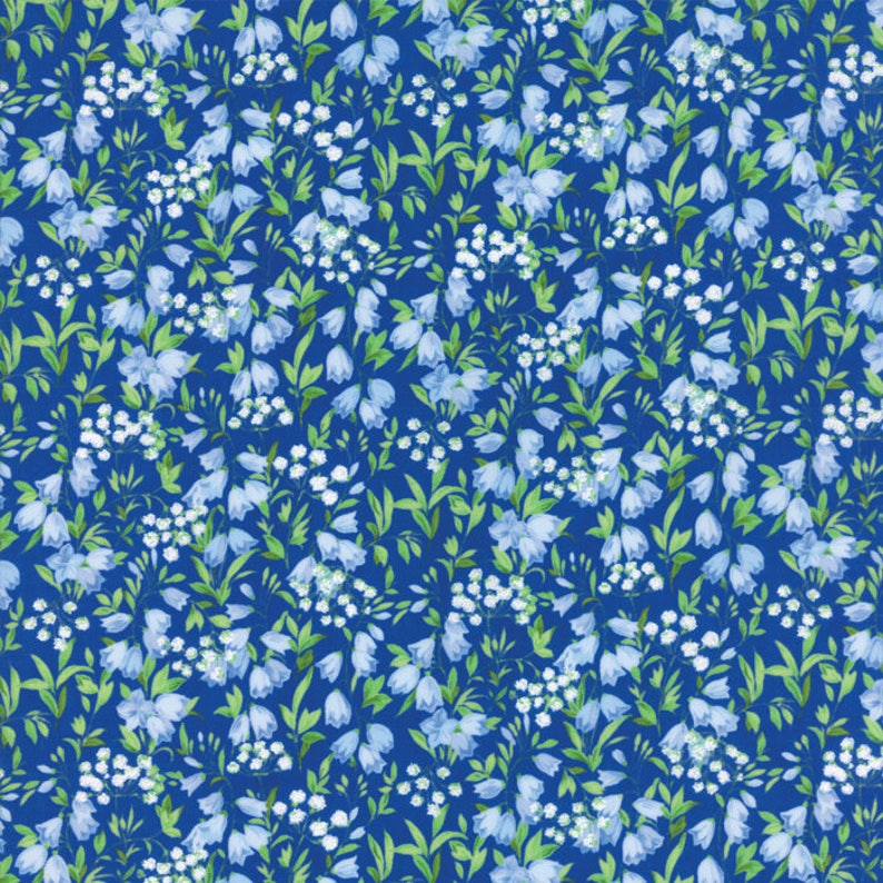 Moda SUMMER BREEZE V Royal Blue 33306 14 By The Yard Quilt Fabric