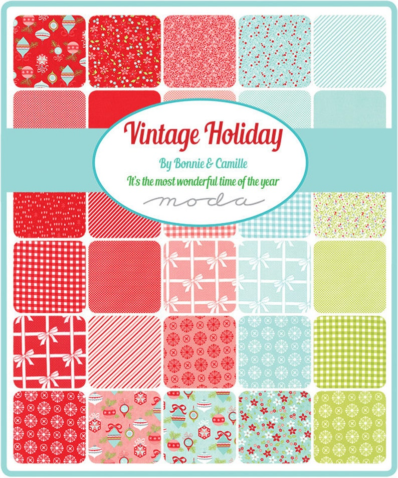 Bonnie /& Camille Moda VINTAGE HOLIDAY 42 10x10 Quilt Fabric Squares 55160LC Layer Cake