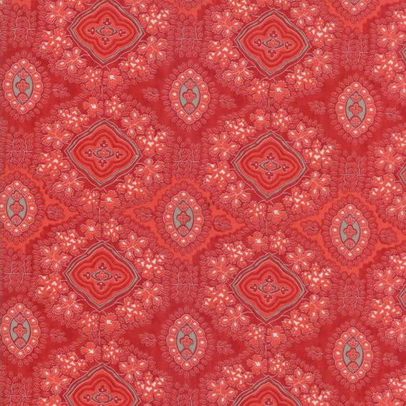 14765 21 MODA Fabric ~ MIDWINTER REDS~ by Minick /& Simpson by the 1//2 yard