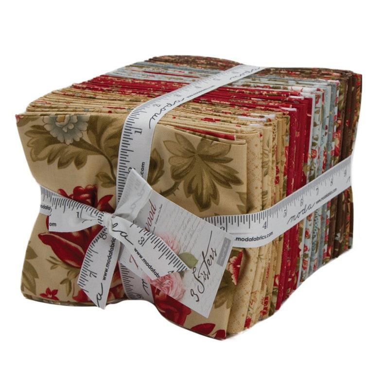 Moda ROSEWOOD 36 Quilt Fabric Fat Quarter Bundle 44180AB 3 Sisters