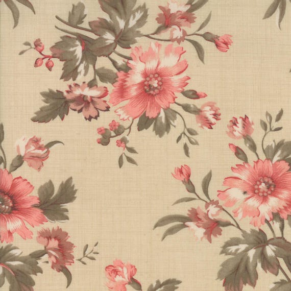 ATELIER DE FRANCE 13800 12 Pearl Rose Floral  FRENCH GENERAL Moda QUILT FABRIC