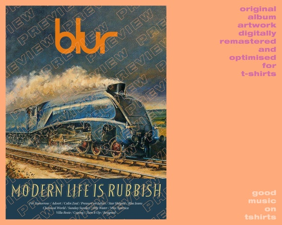 Blur T Shirt Modern Life Is Rubbish Unisex  All Sizes Colours