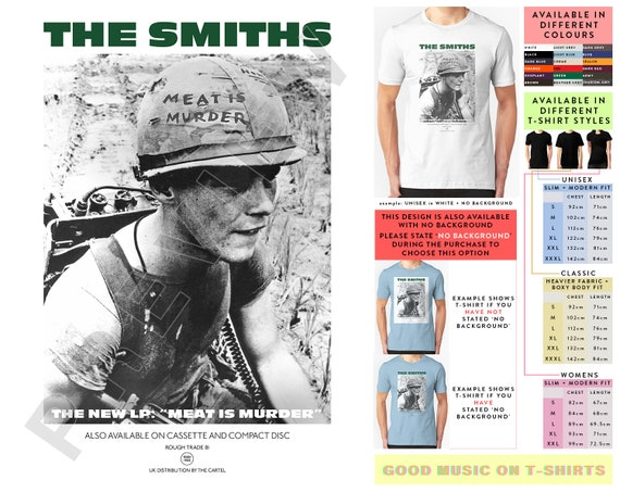 The Smiths Meat Is Murder Rock Band Graphic T-Shirt