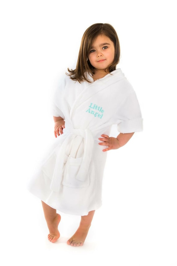 db2c381167 Personalised soft dressing gown bath robe for baby toddler