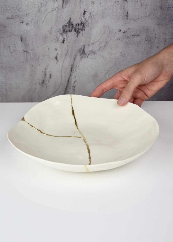 Handmade Porcelain Tweed Slabs