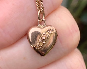 27mm or 31mm Gold and Pink Heart Bead Pendant 24kt Yellow Gold Foil and Clear Murano Glass Bead Pendant