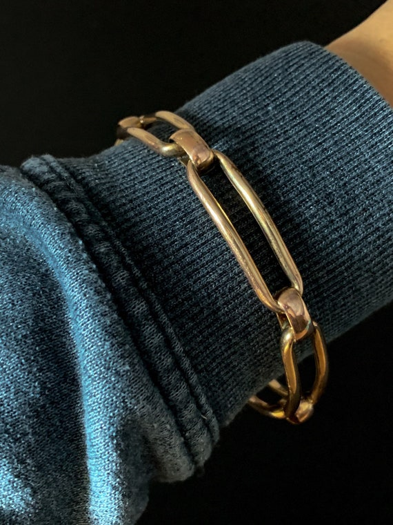 Antique Victorian Rolled Gold Chain Link Bangle
