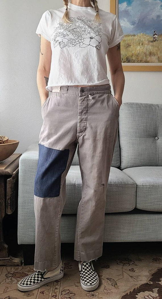 50's Work Wear Pants 30.5W X 27L