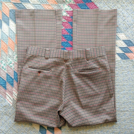 35W 70's/80's Plaid Polyester Pants - image 10