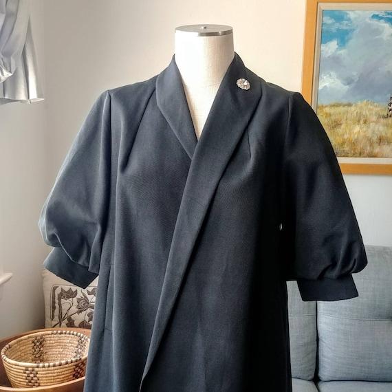60's Black Coat