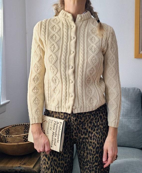 50's/60's Wool Cardigan XS/Sm
