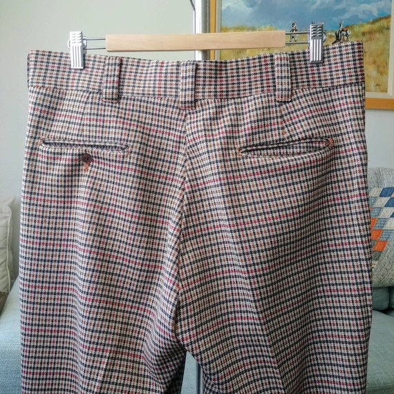 35W 70's/80's Plaid Polyester Pants - image 8