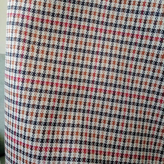 35W 70's/80's Plaid Polyester Pants - image 2