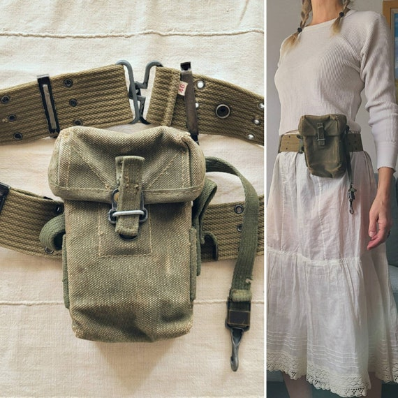 40's Military Belt and Bag