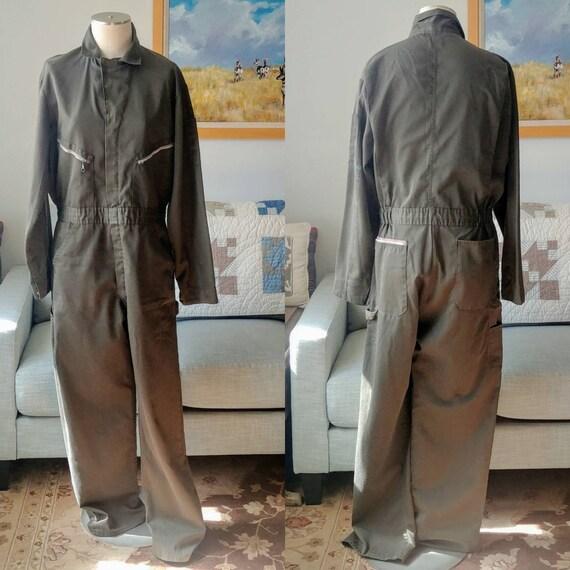 Vintage Dickies Olive Green Jumpsuit Workwear 42 X