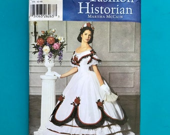 Simplicity 5724 Victorian Ball Gown Southern Belle Dress Civil War Costume Sizes 14 16 18 20 Plus Sewing Pattern Uncut