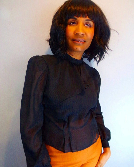 Vintage sheer blouse - image 6