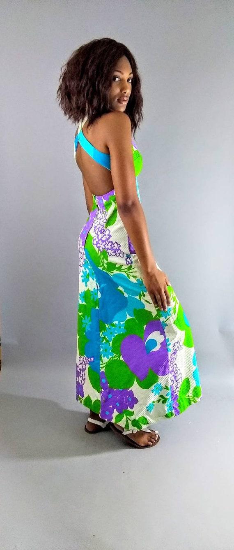 Vintage Malia 70s maxi floral dress. - image 7