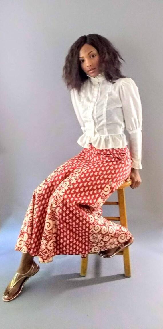 Vintage 1970s I. Magnin long maxi skirt - image 4