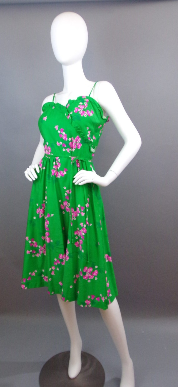 Sale Vintage 60s Malia floral dress - image 3