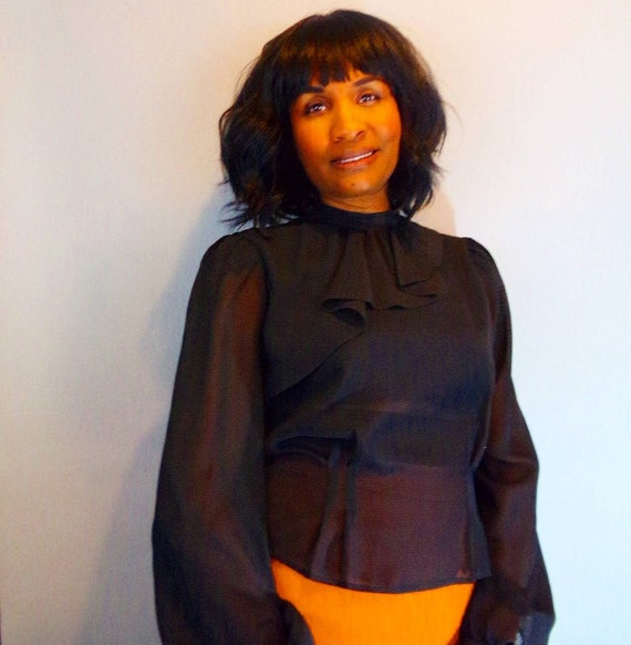Vintage sheer blouse - image 1