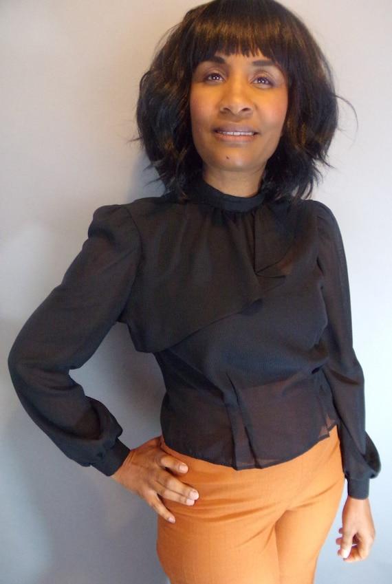 Vintage sheer blouse - image 9