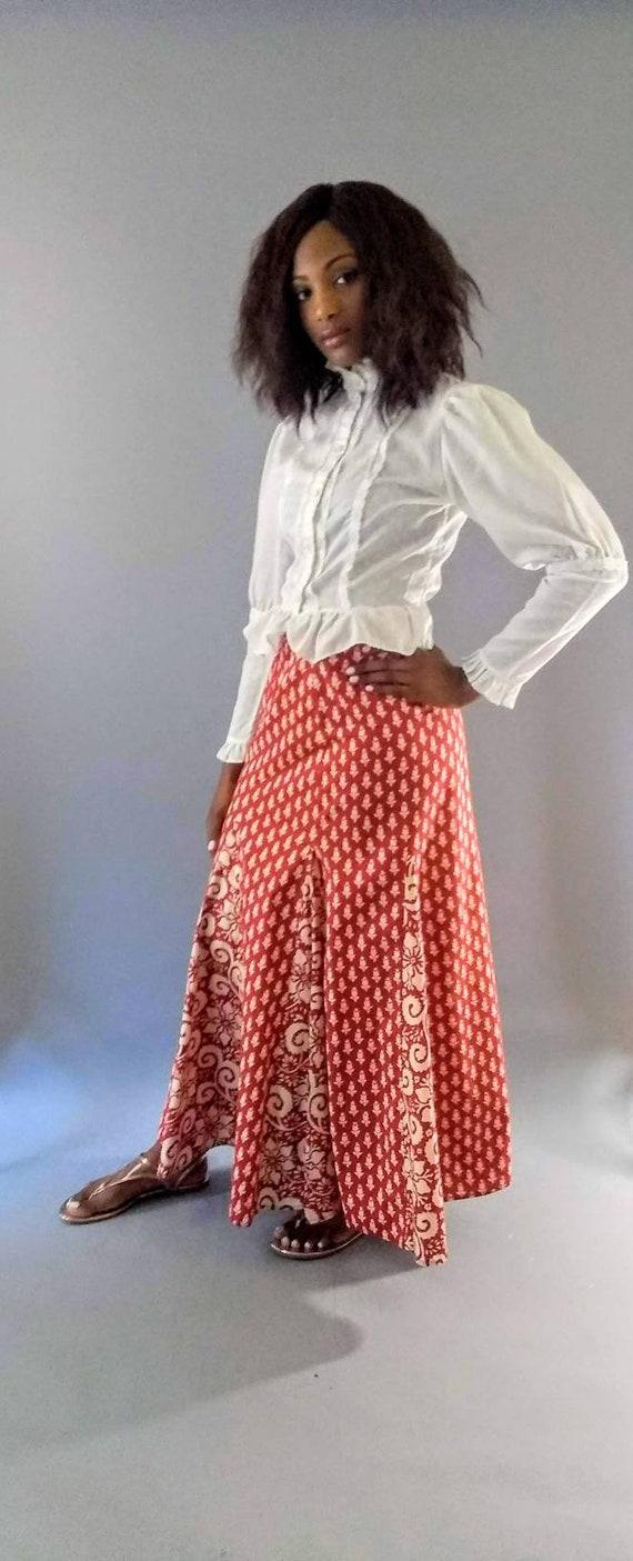 Vintage 1970s I. Magnin long maxi skirt - image 2
