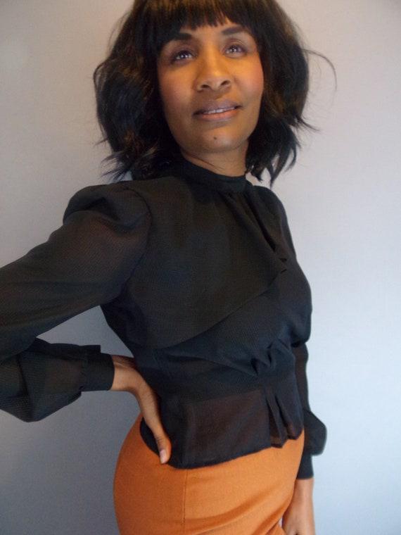 Vintage sheer blouse - image 8