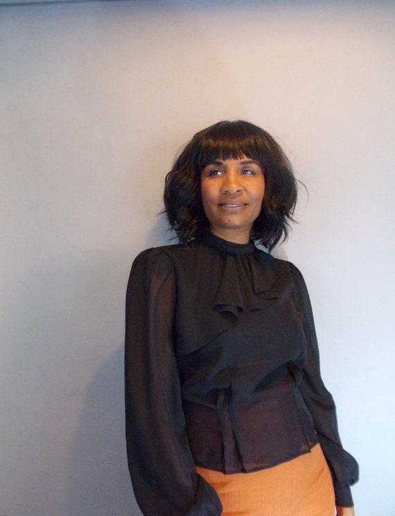 Vintage sheer blouse - image 3