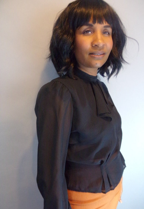 Vintage sheer blouse - image 2