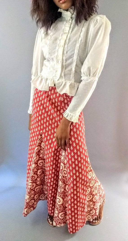 Vintage 1970s I. Magnin long maxi skirt - image 6