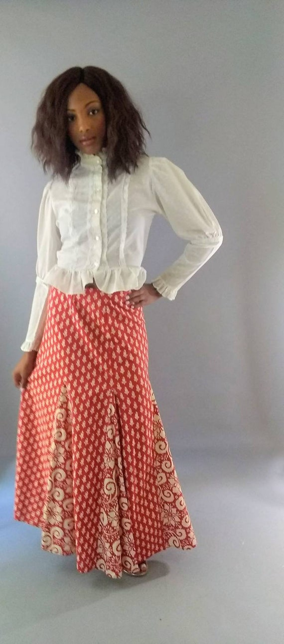 Vintage 1970s I. Magnin long maxi skirt - image 10
