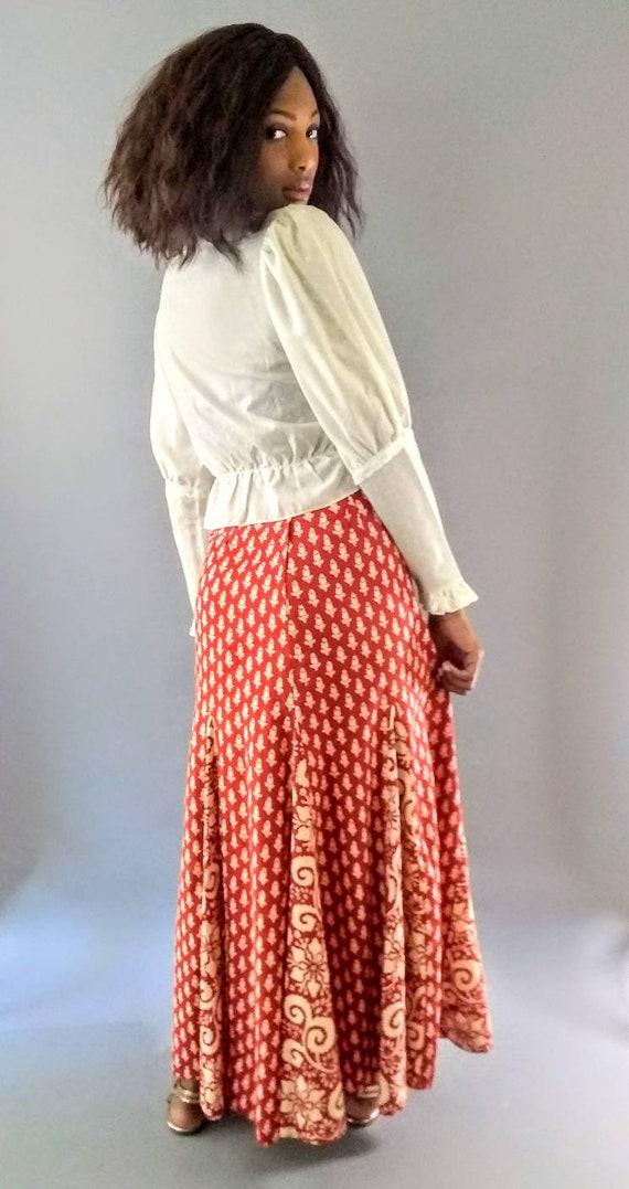 Vintage 1970s I. Magnin long maxi skirt - image 5