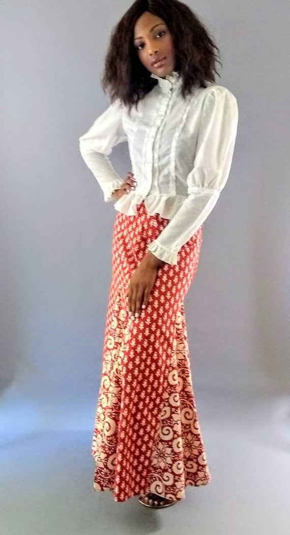 Vintage 1970s I. Magnin long maxi skirt - image 9