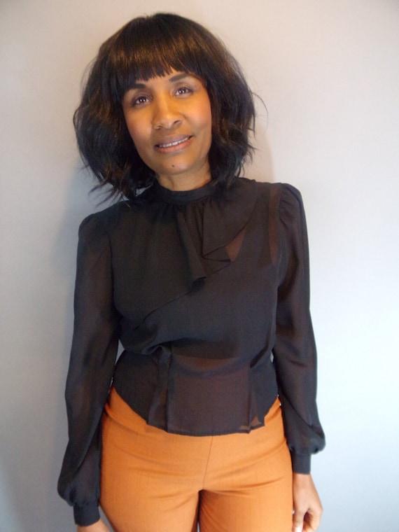 Vintage sheer blouse - image 7
